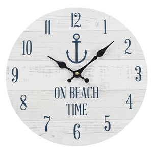 34cm On Beach Time Wall Clock