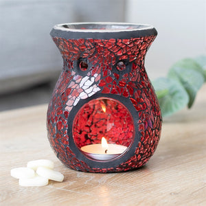PRE-ORDER Small Red Crackle Mosaic Oil Burner