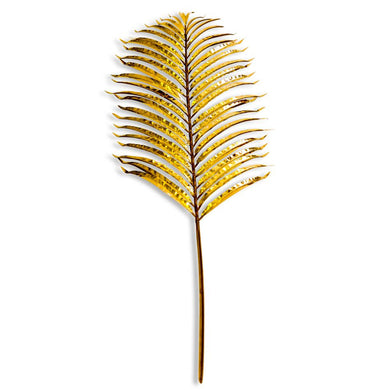 Metallic Gold Small Single Palm Leaf