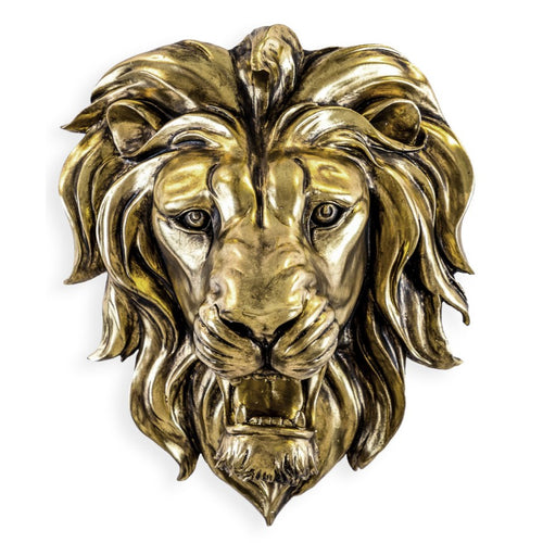 48.5cm Gold Roaring Lion Wall Head