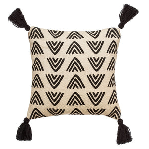 Off White Tasselled Cushion
