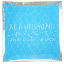 Be A Mermaid And Make Waves Blue Ceramic Jewellery Dish