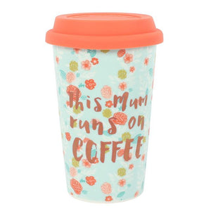 This Mum Runs On Coffee Ceramic Thermal Travel Mug