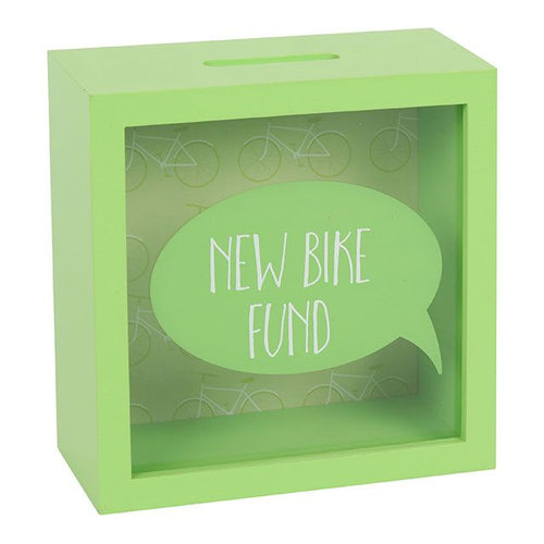 New Bike Fund Shadow Frame Money Box