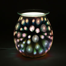 Starburst Effect Light Up Electric Oil Burner