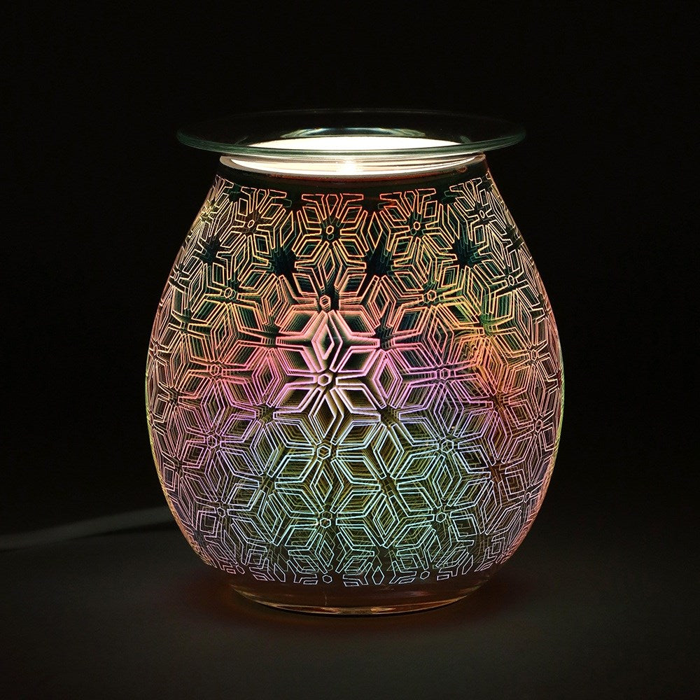 Geometric Flower Light Up Electric Oil Burner