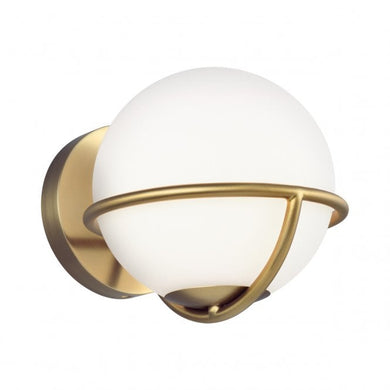 Space Walk 1 Light Burnished Brass Wall Light
