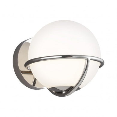 Space Walk 1 Light Polished Nickel Wall Light