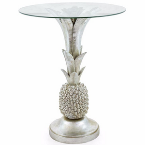 Antique Silver Pineapple Side Table