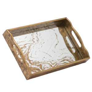 PRE-ORDER Augustine Mirrored Display Tray with Marbling