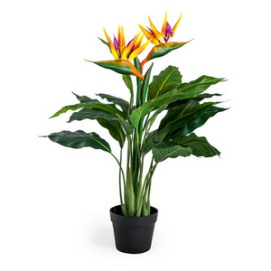 Artificial Potted Bird of Paradise Plant