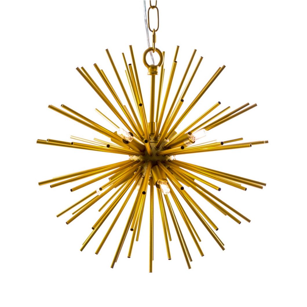 Brass Spiked Ceiling Pendant