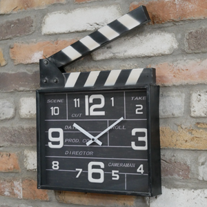 Film Director's Clapperboard Wall Clock