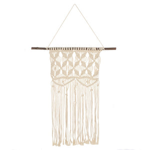 Cream Macramé Wall Hanging