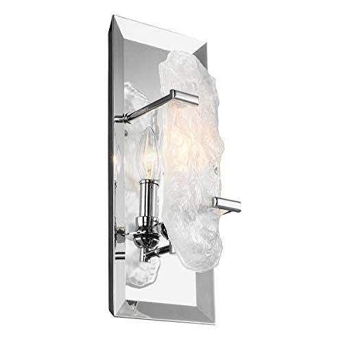 Chrome Light Crystal Architectural Style Wall Light
