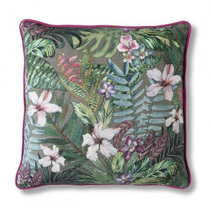 45cm Tropical Rainforest Print Square Cushion