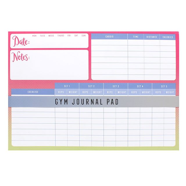 tear off gym journal a4 workout planner brown ginger