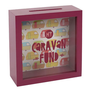 My Caravan Fund Easy Access Wooden Money Box