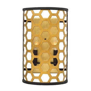 The Colette Gold and Black 2 Light Wall Light