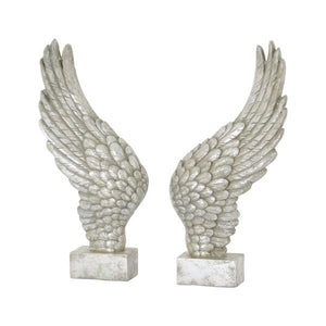 PRE-ORDER Antique Silver Angel Wings Bookends