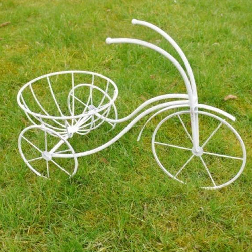 Traditional Cream Tricycle Garden Planter