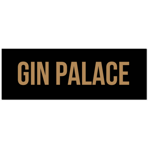 Gin Palace Gold Foil Wooden Plaque