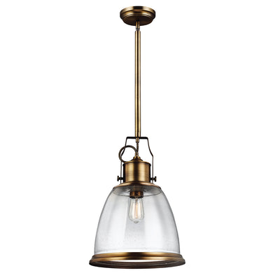 The Hudson 1 Light Brass Large Pendant
