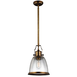 The Hudson 1 Light Brass Medium Pendant