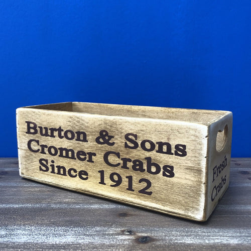 Cromer Crabs Waxed Wooden Boxes