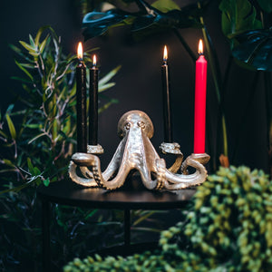 Gold Octopus Candlestick Holder