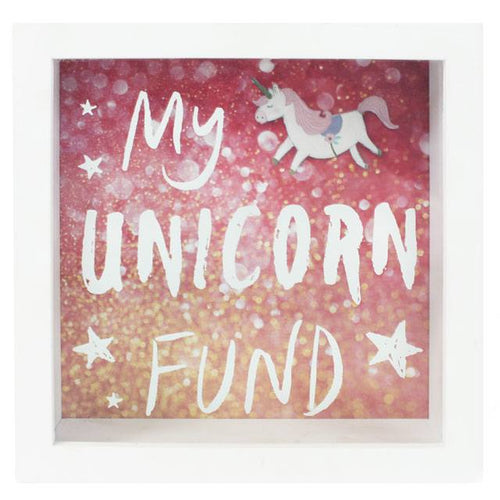 My Unicorn Fund Easy Access Wooden Money Box