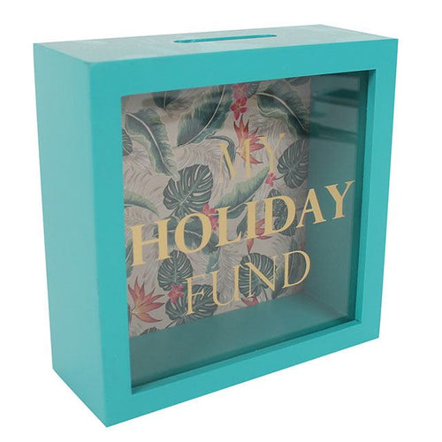 My Holiday Fund Easy Access Wooden Money Box
