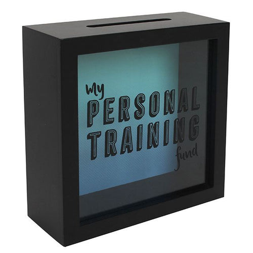 My Personal Training Fund Easy Access Wooden Money Box