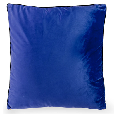 50cm Blue Velvet Decorative Cushion