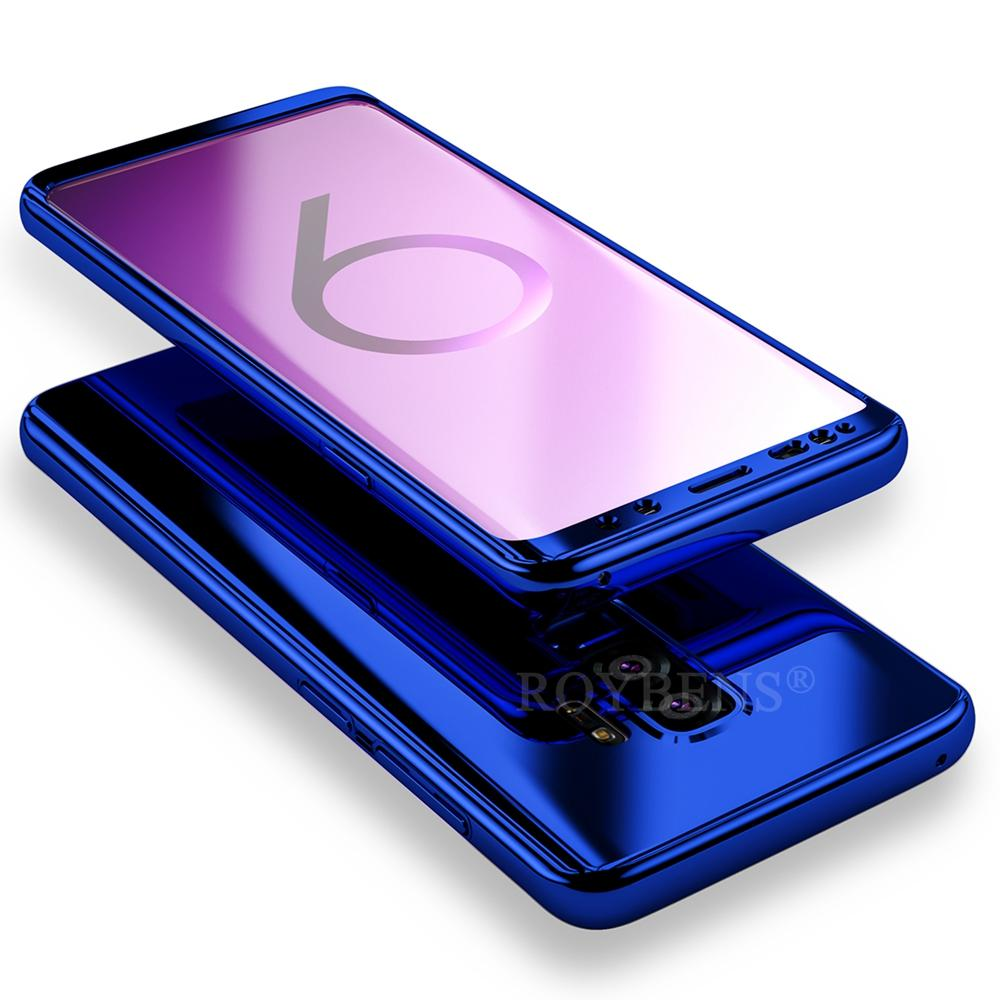 more photos 3b635 9502d For Samsung Galaxy S9 Case Roybens Luxury Ultra Thin Bling Mirror 360 Full  Protection Cover For Galaxy S9 Plus Case + Soft Film
