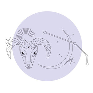 Aries Season | Free colouring sheet