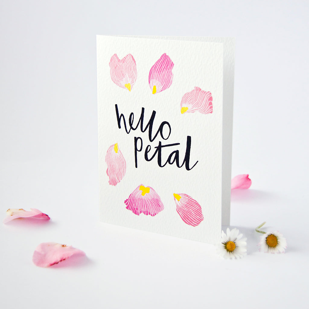 Hello Petal Greetings Card A6