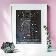 Astrology Natal Birth Chart Print | A3 Personalised Monochrome Zodiac Gift