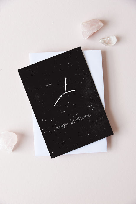 Cancer Zodiac Birthday Card | 21st June - 22nd July