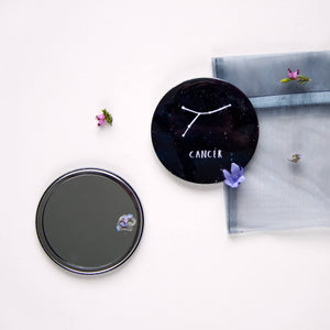Zodiac Sign Constellation Pocket Mirror