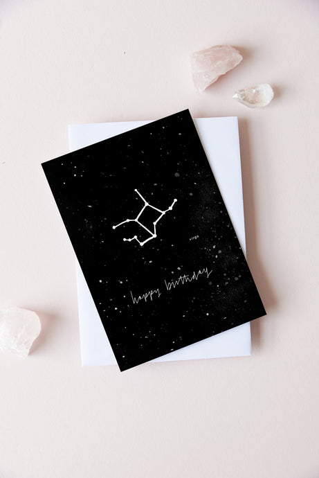 Virgo Zodiac Birthday Card | 23rd August - 22nd September