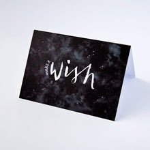 Monochrome 'make a wish' greetings card