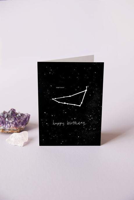 Capricorn Zodiac Birthday Card | 22nd December - 19th January