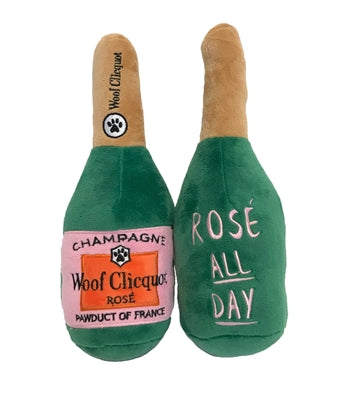 Woof Clicquot Rose' Bottle Plush Toy