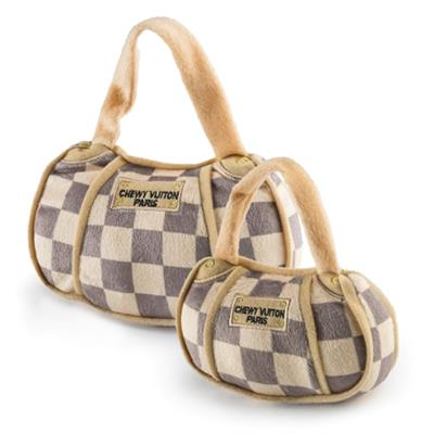Checker Chewy Vuiton Handbag Plush Toy