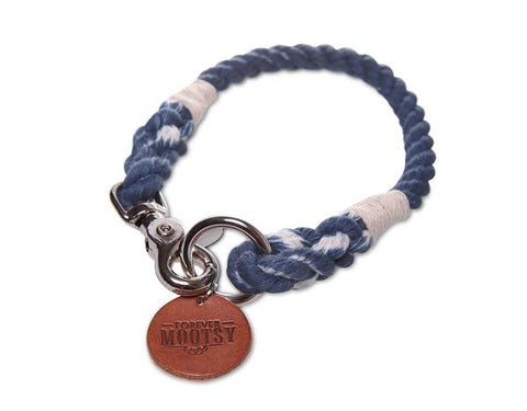Denim Blue Rope Collar