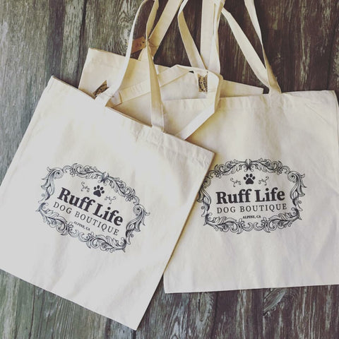 Ruff Life Dog Boutique Canvas Totes