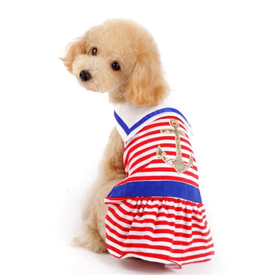 Nautical Stripe Dog Dress