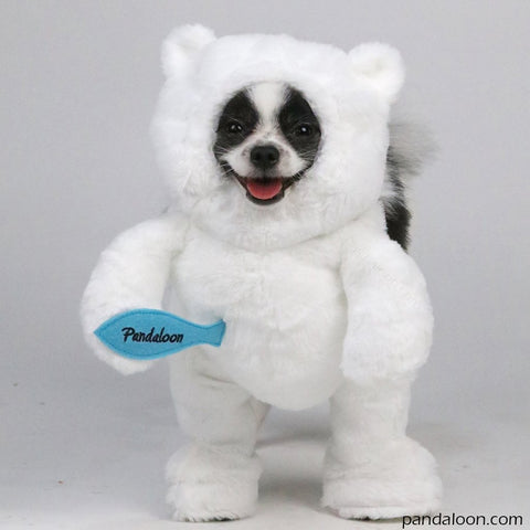 Walking Polar Bear Dog Costume
