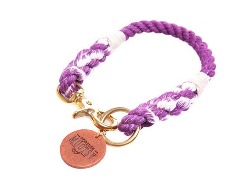 Purple Rope Collar